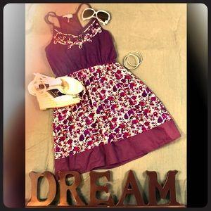 Lulumari Anthropologie purple floral dress sz M